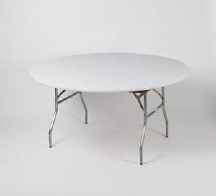 5' Round Kwik Cover - White