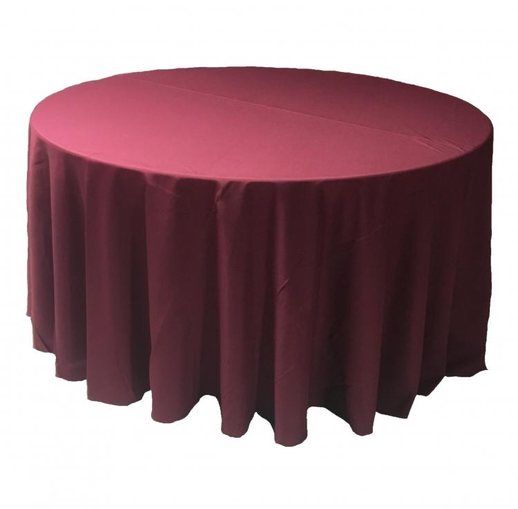 120 Round Polyester Linen