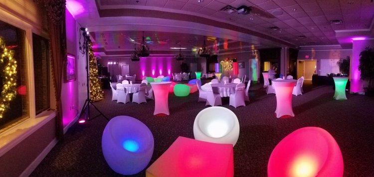 LED Glow Coffee Table