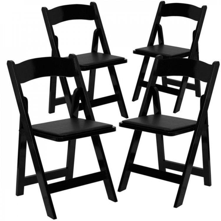 Chairs Black Pad Resin