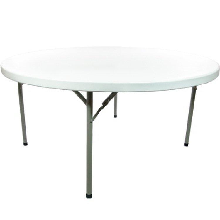4' Plastic Round Folding Table