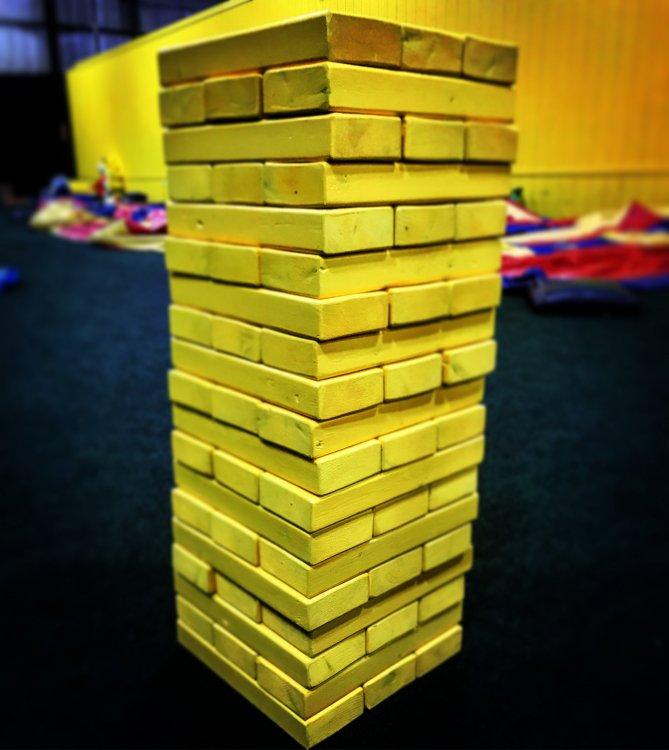 Mega Jenga block stacking game